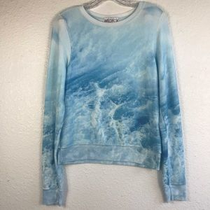 WILDFOX Blue Tie Dye Pullover - SOFT & PLUSH!